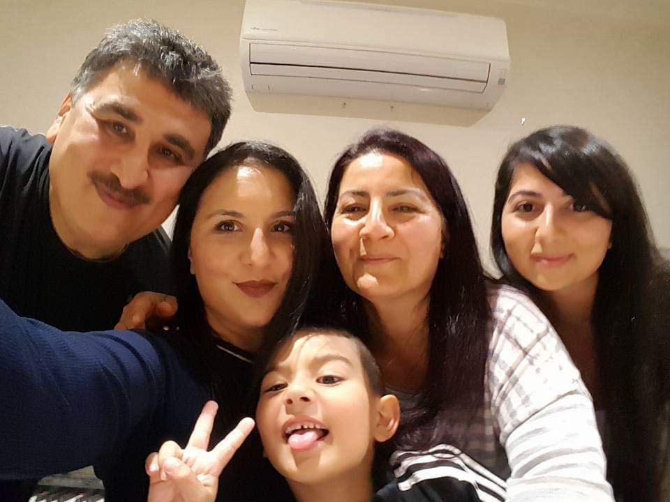Zeinab in Melbourne with her family.