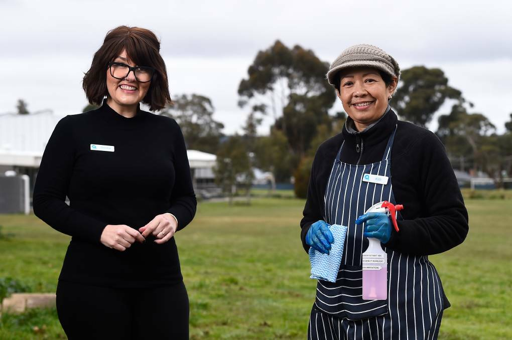 BSL is pleased to support the Working for Victoria initiative, providing job opportunities to people like Donna and Kitti at the Ballarat Work and Learning Centre, a joint BSL and Ballarat Neighbourhood Centre partnership. Photo by Adam Trafford, The Courier newspaper.