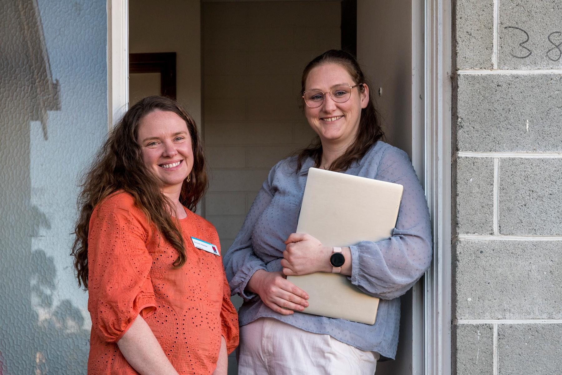 Saver Plus coordinator Nicole and Cassie